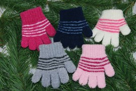 margot перчатки PUCHATKI STRIPE одинарная вязка букле (размер 11)
