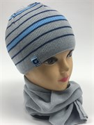 GRANS комплект A470 шапка подкл.флис+шарф (р.42-44)