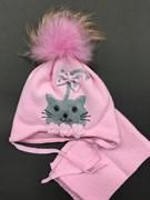 ambra к-т: шапка с утеплителем, подкл.хлопок + шарф(р.42-44)