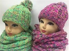 Margot bis к-т:  TELMA C шапка подкл.флис + снуд (р.52-56)зеленые