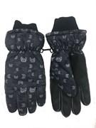 перчатки для мальчика т.серая (10-11 лет) знаки