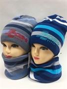 AGBO комплект 1417 KJ TOBIASZ шапка подклад хлопок + снуд (р.50-52)