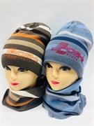 AGBO комплект 1471 KJ TOIASZ шапка подкл.хлопок + снуд (р.50-52)