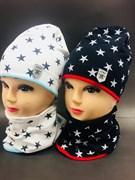 Jamiks комплект 17176 шапка двойн.трикотаж + снуд (р.50-52)