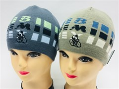 amal шапка одинарная вязка (велосипед)(р.50-52)