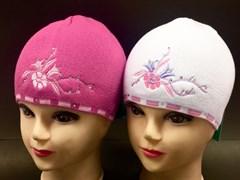 amal шапка одинарн.вязка (цветы стразы)(р.48-50)