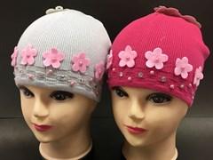 ANPA модель C 13 шапка одинарн.вязка (цветочки)(р.48-50)