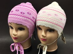 AGBO шапка одинарн.вязка (р.48-50)(розовая)