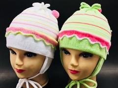 GRANS шапка для девочки одинарная вязка (р.46-48) с узелком
