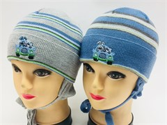 amal шапка одинарная вязка (р.44-46)зеленый