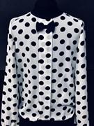 SLY блузка дл.рук. крем (горох)(р.128-164)