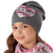 AJS комплект 36-095 шапка один.трикотаж + платок (р.52-54)