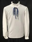 Zibi блузка длин.рук. ленточка, кремовая (разм128-158)