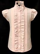 AGATKA блузка кор.рук. рюши, розовая (р.128-158) 6 шт.