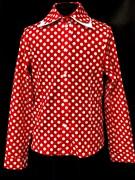 AGATKA блузка длинный рукав горох, красная (р.128-158) 6шт.
