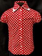 AGATKA блузка кор.рук. горох, красная (р.128-158) 6шт.
